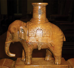 Elephant carving