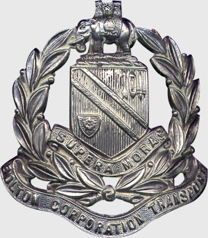 Bolton Corporation Tramways Cap Badge